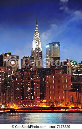 Chrysler Building in New York City Manhattan - csp17175329
