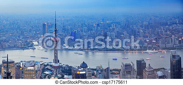 Shanghai aerial panorama - csp17175611