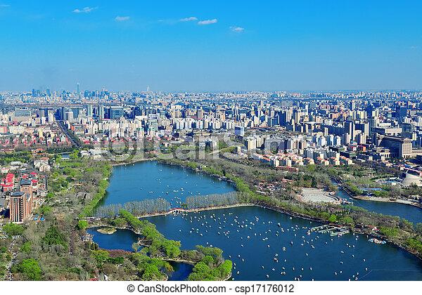 Beijing aerial view - csp17176012