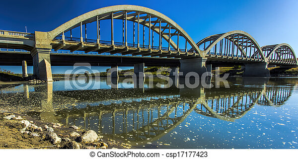 Bridges over the River - csp17177423