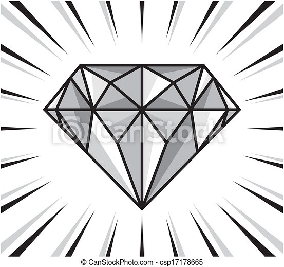 Clip art vecteur de clat diamant diamant clat - Diamant dessin ...