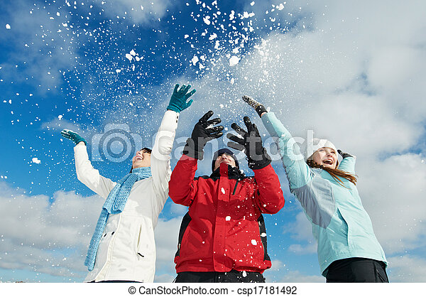 Young people in winter - csp17181492