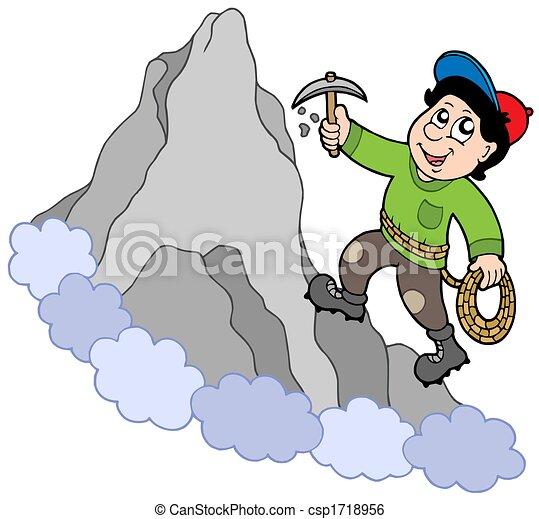 Rock climber on mountain - csp1718956