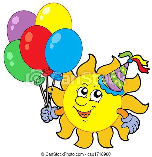 Illustration - fête, soleil, Ballons - Banque d'illustrations ...