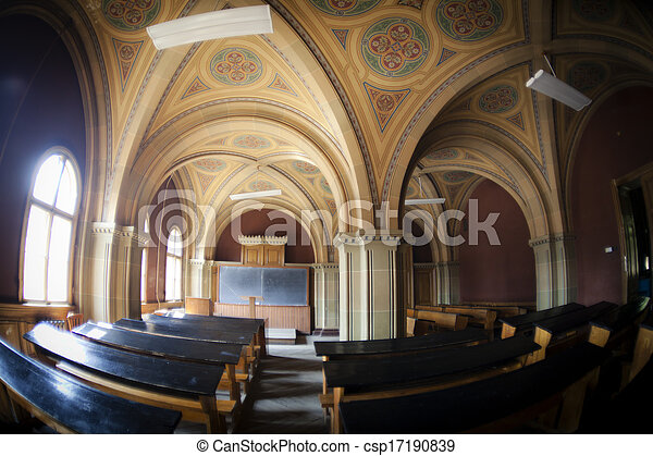 Lecture hall in Chernivzi university