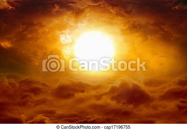 Hell sunset - csp17196755