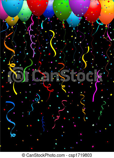 Confetti and balloons - csp1719803