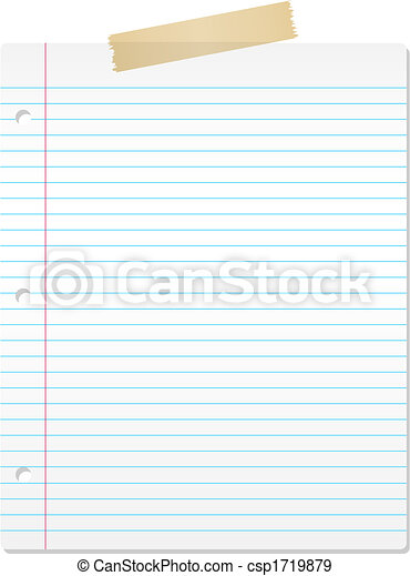 Lined paper - csp1719879