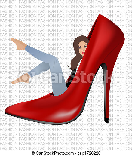 Girl in red shoe - csp1720220
