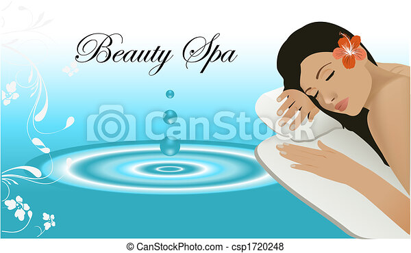 Woman relaxing on a spa - csp1720248