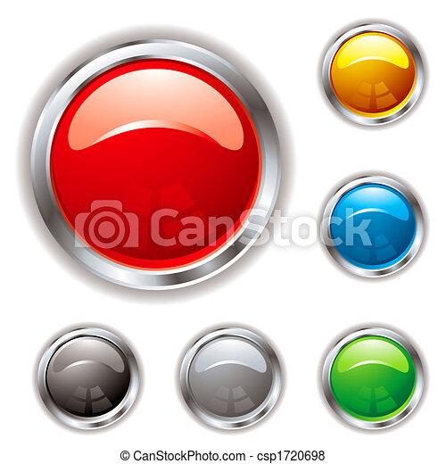 silver bevel gel button - csp1720698