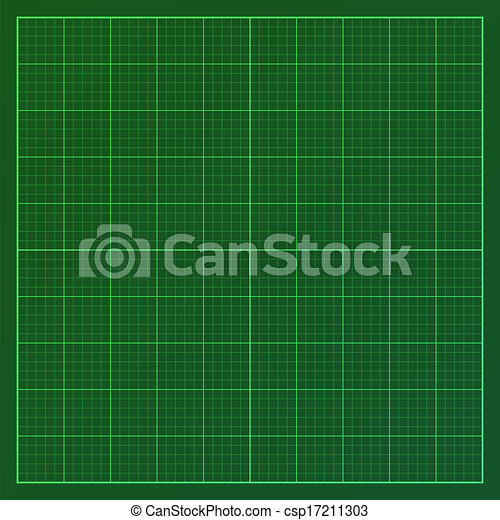 Clipart of Green graph paper - Vector illustration of graph paper ...