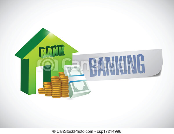 banking sign illustration design - csp17214996