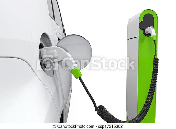 illustration de lectrique voiture charger station isol blanc fond csp17215382. Black Bedroom Furniture Sets. Home Design Ideas