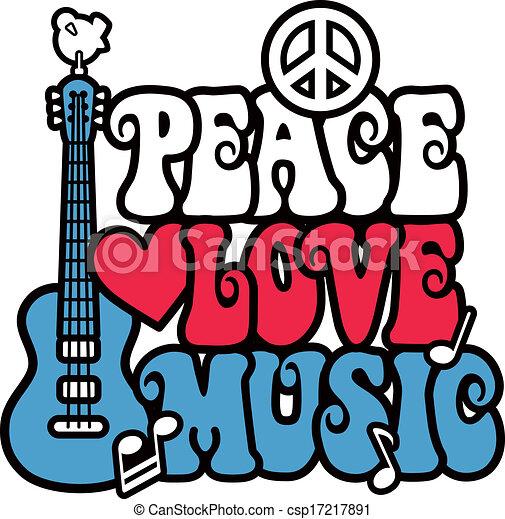 矢量-和平, 爱, 音乐