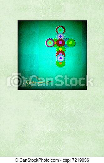 cute cross religion card, blank - csp17219036