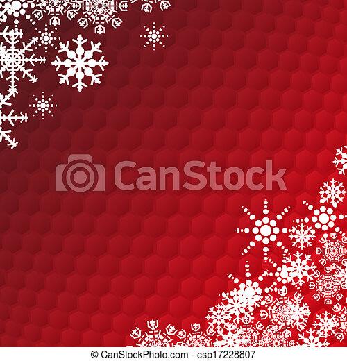 Winter holidays snowflake card  - csp17228807