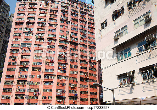 Old residential building - csp17233887