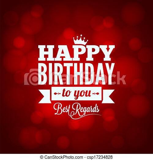 happy birthday sign design background - csp17234828