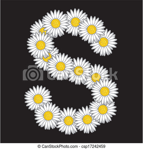 Can Stock Photo Flower Alphabet Vectors Clipart