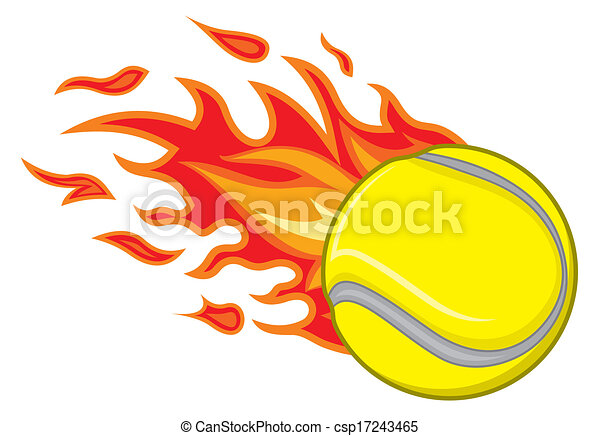 clip art vector of tennis ball in fire tennis ball in Flaming Soccer Ball Logo Vector Flaming Basketball Logo