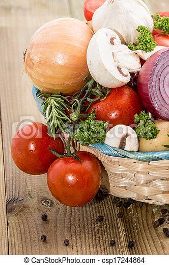 Different Vegetables in a basket