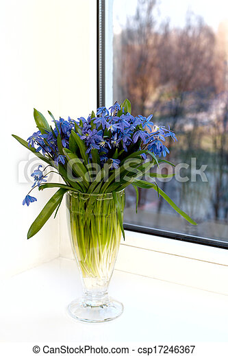 flowers on a window-sill - csp17246367