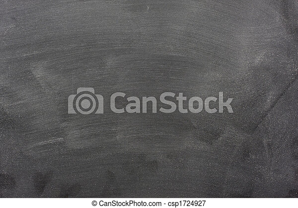 blank blackboard with chalk dust and eraser marks - csp1724927