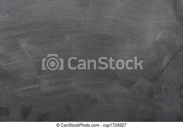 blank blackboard with chalk dust and eraser marks - csp1724927