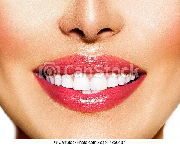 概念, 健康, 牙齒, 變白, 牙齒, 微笑, 關心 - csp17250487