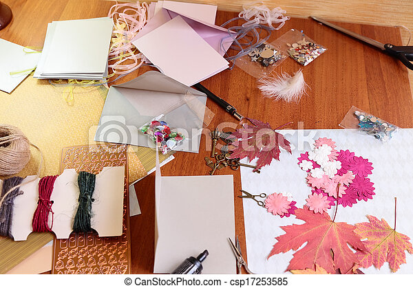 Art background  with scrapbooking elements - csp17253585