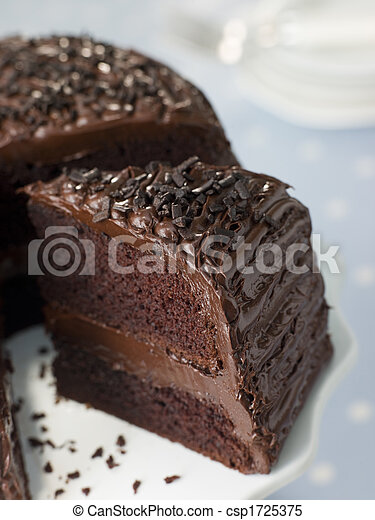 Slice Of Chocolate Fudge Cake - csp1725375