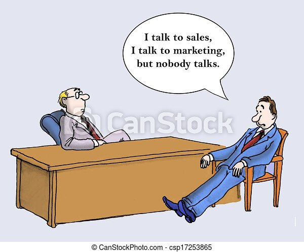 Stock Illustration of Sales and marketing - A ...