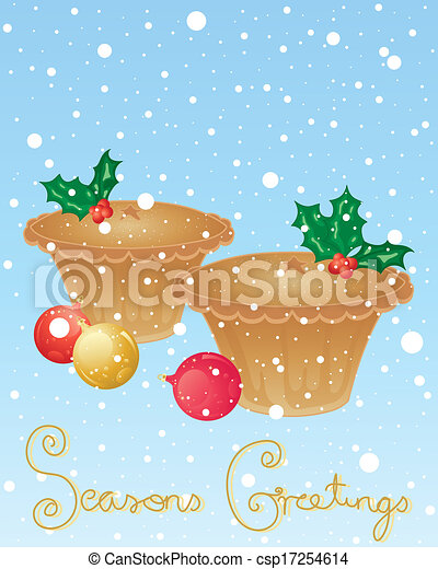 Vector Clip Art of mince pie - an illustration of christmas mince pies ...