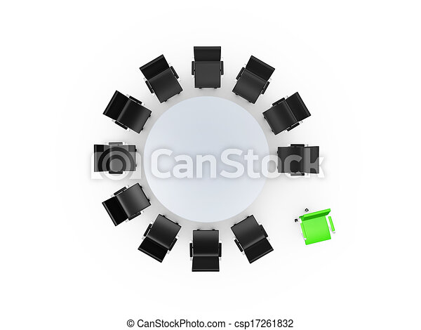 Conference Table Icon Conference Round Table And