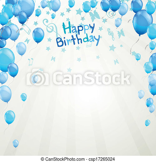 Vector Happy Birthday Greeting Card - csp17265024