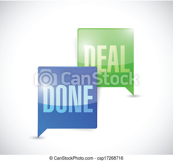 Vector Clip Art of done deal business communication ...