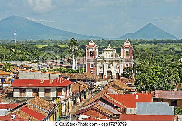 El Calvario Church in Leon, Nicaragua - csp17270799