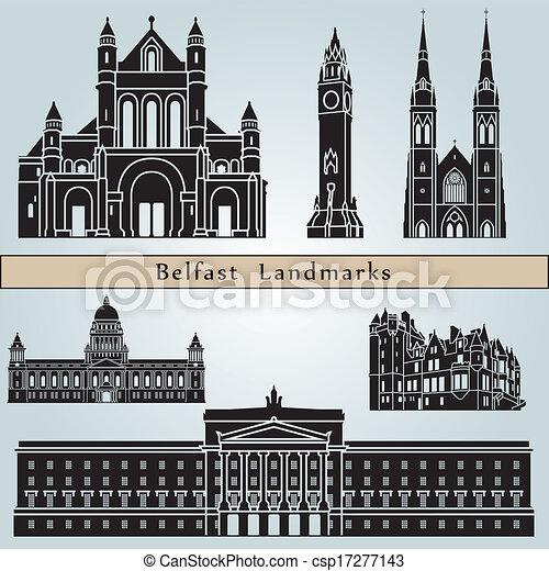 Belfast Landmarks - csp17277143