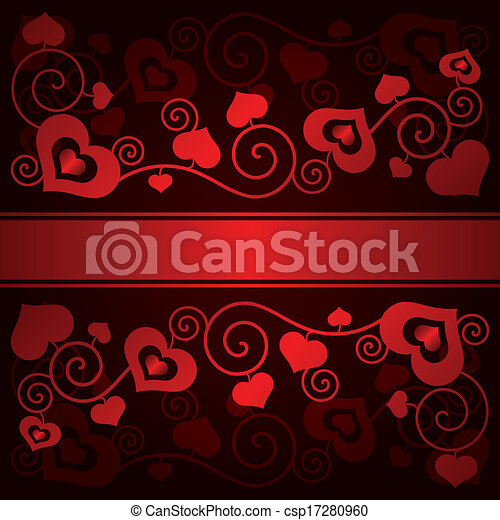 Valentine's day background with hearts - csp17280960