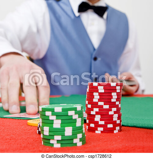 Stock Photo - Stack of chips