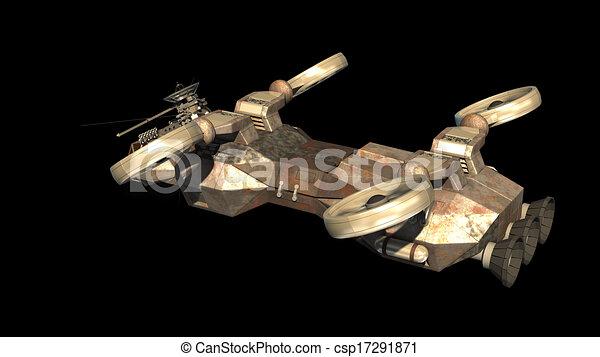 Stock de ilustraciones de militar nave espacial for Puerta nave espacial