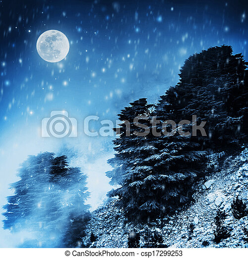 Beautiful winter landscape - csp17299253