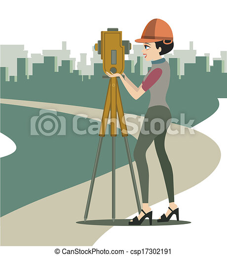 EPS Vectors of Female engineer - Women are two boxes in construction ...