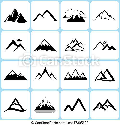 Mountain Icons Set - csp17305693