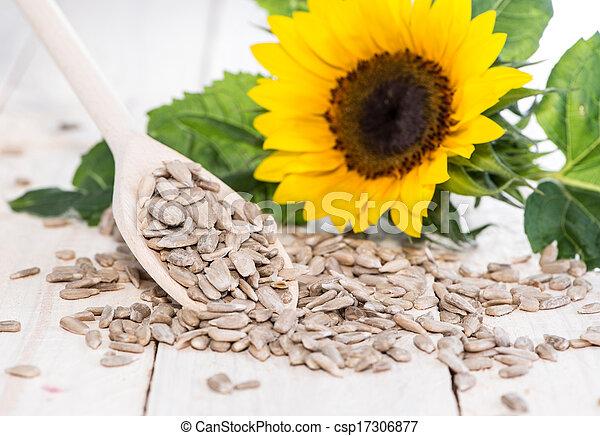 Sunflower Seeds (Macro Shot)