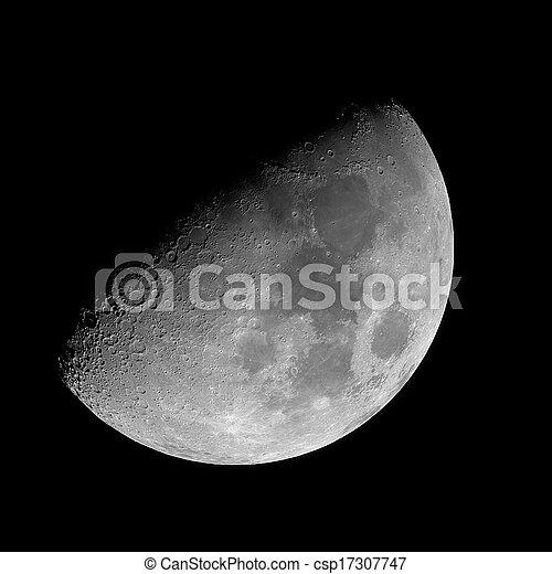 Waxing Gibbous Moon Clipart Waxing gibbous moon  - csp17307747Waxing Gibbous Moon Clipart