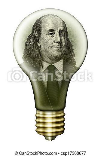 Picture of Benjamin Franklin Money Bulb - Photo-Illustration using ...