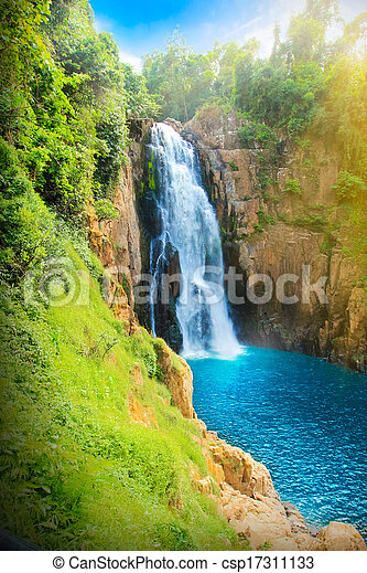 Beautiful Waterfall - csp17311133