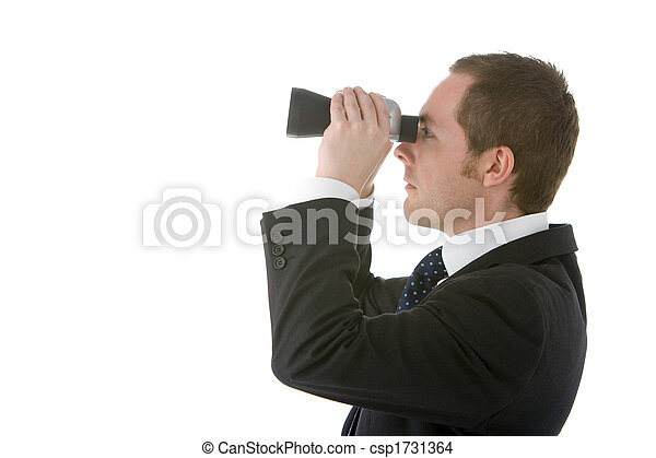 Businessman Looking Through Binoculars - csp1731364